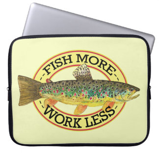 Brown Trout Fishing Laptop Sleeve