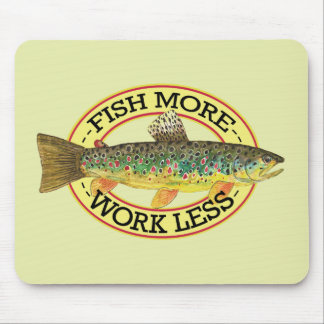 Brown Trout Fishing Mouse Pad