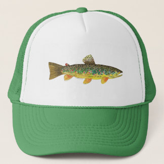 Brown Trout Fishing Trucker Hat
