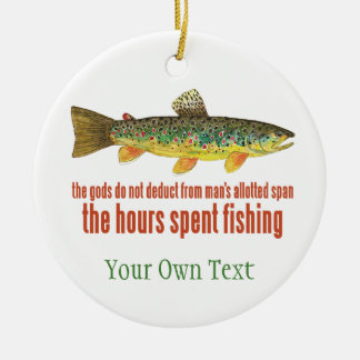 Brown Trout Fly Fishing Fisherman's Ceramic Ornament