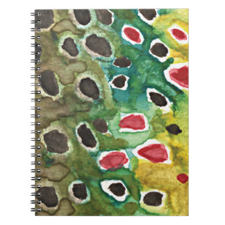 Brown Trout Fly Fishing Log Spiral Notebook