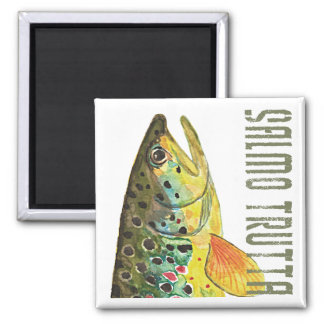 Brown Trout Ichthyology, Fishing, Fly Fishing Magnet