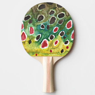 Brown Trout Ping Pong Paddle