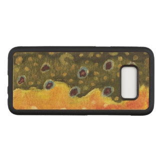 Brown Trout Skin - Fishing, Ichthyology Carved Samsung Galaxy S8 Case