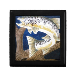 Brown Trout Small Square Gift Box