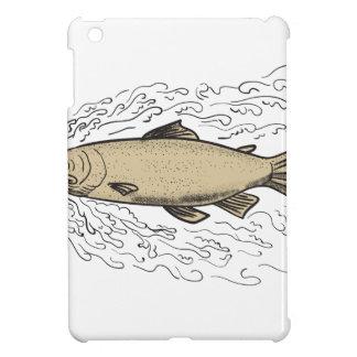 Brown Trout Waves Tattoo iPad Mini Cover