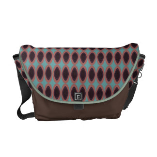 brown turquoise peach colorful circles commuter bag