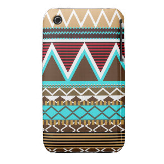Brown & Turquoise Tribal iPhone 3/3GS Case-Mate Ca Case-Mate iPhone 3 Cases