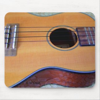Brown Ukulele Mouse Pad
