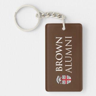 Brown University Alumni Double-Sided Rectangular Acrylic Key Ring