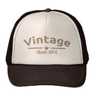 Brown Vintage Grunge Gritty Year, For Him Trucker Hats