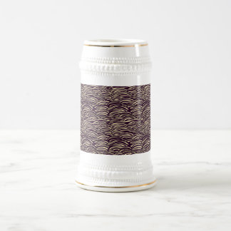 Brown waves pattern. Sea texture. Beer Stein