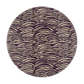 Brown waves pattern. Sea texture. Cutting Board