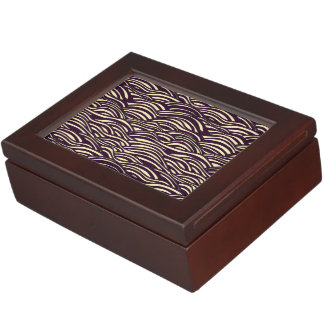 Brown waves pattern. Sea texture. Keepsake Box