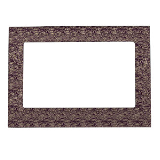 Brown waves pattern. Sea texture. Magnetic Frame