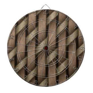 Brown weave from basket  textile dartboard