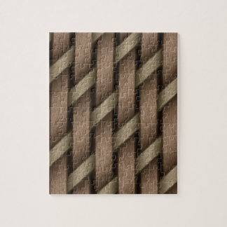Brown weave from basket  textile jigsaw puzzle