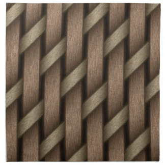 Brown weave from basket  textile napkin