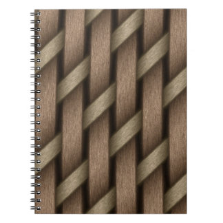 Brown weave from basket  textile notebooks