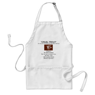 """""""Brown Wet Fly-Cruel Trout""""  Apron"""