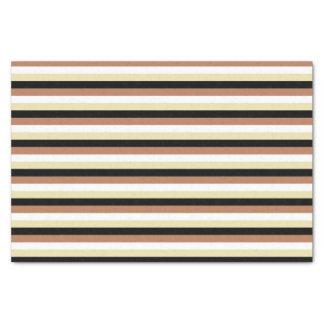 Brown, White, Beige and Black Stripes Tissue Paper