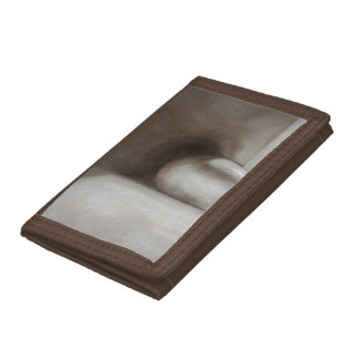 Brown White Earth Tone Still Life Nylon Wallet
