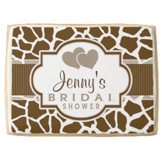 Brown, White Giraffe Animal Print Bridal Shower