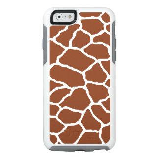 Brown White Giraffe Print OtterBox iPhone 6/6s OtterBox iPhone 6/6s Case