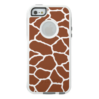 Brown White Giraffe Print OtterBox iPhone SE/5/5s OtterBox iPhone 5/5s/SE Case