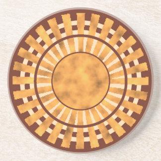Brown Wicker Coaster