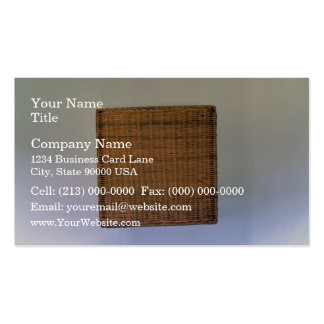 Brown Wicker Texture Business Card Template