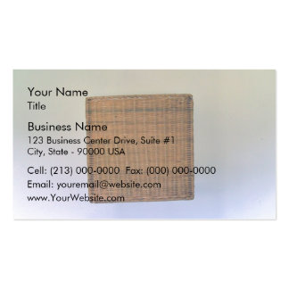Brown Wicker Texture Business Card Templates
