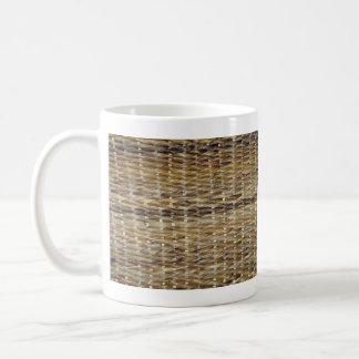 Brown Wicker Texture Mugs
