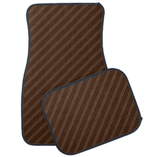 Brown with Double Pin Stripes Car Mat Full Set