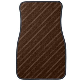 Brown with Double Pin Stripes Front Car Mat