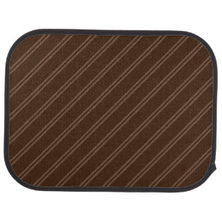 Brown with Double Pin Stripes Rear Car Mat