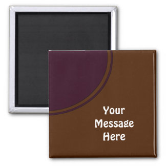 brown with purple circle square magnet