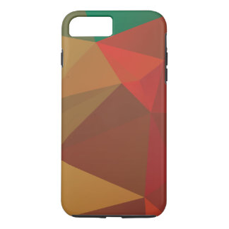 Brown with red and green faded polygonal iPhone 7 plus case