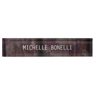 Brown Wood Design Background Plain Legible Modern Nameplate
