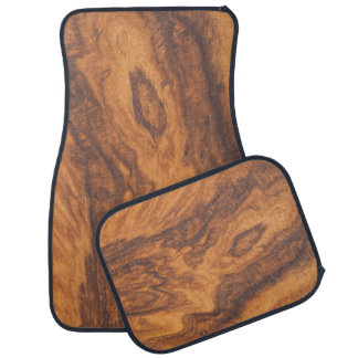 Brown Wood Grain Car Mat