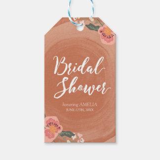 Brown Wood Rustic Floral Bridal Shower