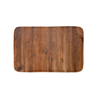 Brown Wood Wall Texture Structure Bath Mat