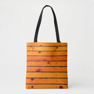 Brown wooden classic sailboat deck tote bag