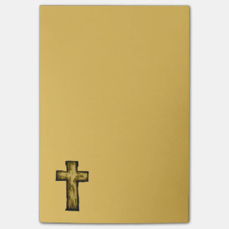 Brown Wooden Cross Illustration Post-it® Notes