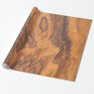 Brown Wooden  Design Wrapping Paper