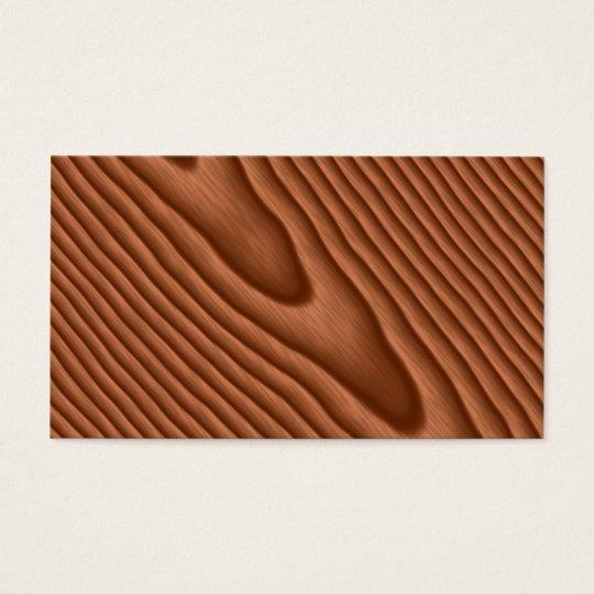 Brown Woodgrain Textured Business Card