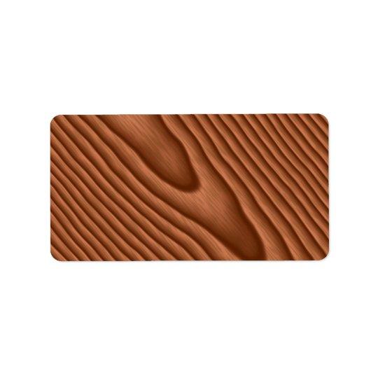 Brown Woodgrain Textured Label