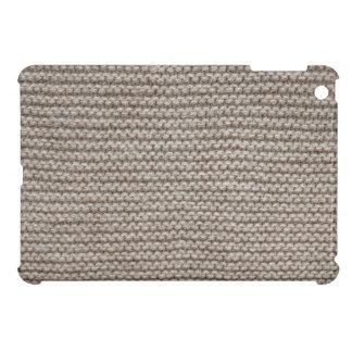 Brown wool knit texture iPad mini covers