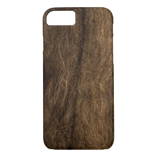 Brown Wool texture. iPhone 8/7 Case