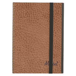 Brown Worn-Out Natural Fox Leather Look 2 iPad Air Cover